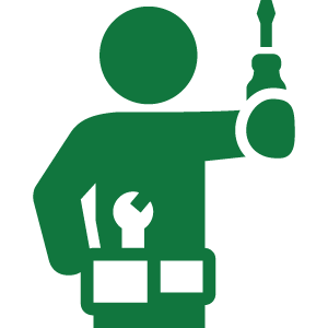 Small Engine Repair Technician Icon